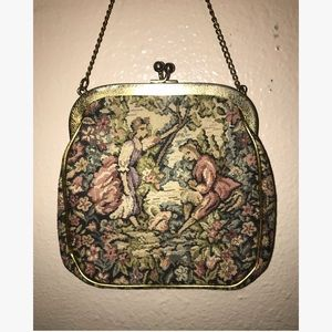1960s Vintage J.R. Miami Tapestry Purse or Handbag